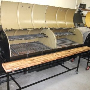 sku#8 2 55 gal. barrel one frame 2 tops code (07205473)-custom-2